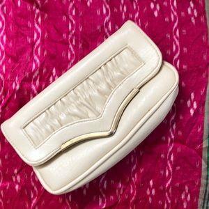 Vintage cream clutch
